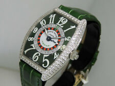 Franck Muller Vegas 6850 VegasD 18k White Gold Cut Diamonds 34.8x40 NIB