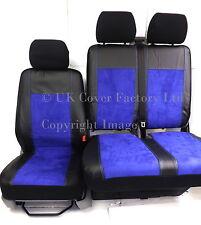 CITROEN RELAY FIAT DUCATO PEUGEOT BOXER  VAN SEAT COVERS BLUE ALCANTARA  P70BU