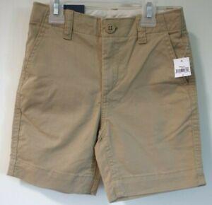 New Gap Kids Khaki Flat Front Shorts Boy's Size 7
