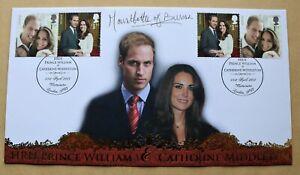 WILLIAM & CATHERINE WEDDING 2011 BUCKINGHAM FDC SIGNED BY COUNTESS MOUNTBATTEN