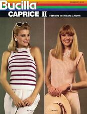 Bucilla Caprice II Fashions to Knit & Crochet Vol 827 Sweaters Vests