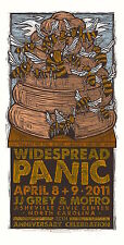 MINT Widespread Panic 2011 SIGNED Gary Houston Asheville Poster