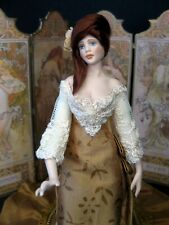 Exquisite dolls house 1/12th doll by Celia Mayfield~turning head-screen included