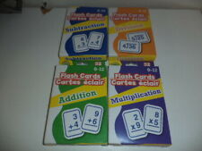 New Set Math Flash Cards, 52 Ea Addition, Subtraction, Division, Multiplication