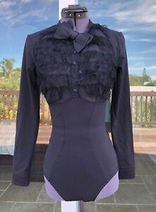 Agent Provocateur Black Lace Theodora Bodysuit AP 2