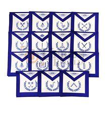Masonic Blue Lodge Officers 15 Machine Embroided Apron Set MS024