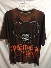 Mecca Men's Brown Short Sleeve Fashion Casual Henley Tee Shirt Size Sz Large Lrg