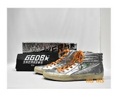 Men's Shoes Top Sneakers GOLDEN GOOSE G29MS595SIL Slide Silver Limited Ed Italy