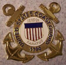 Military Plaque U S Coast Guard metal NEW wall or shadow box mount