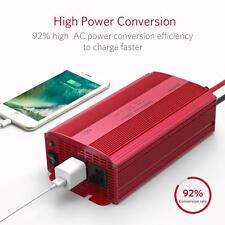 BESTEK Power Inverter 1000W DC 12V to AC 110V Adapter Charger Dual AC Outlets
