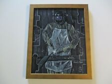 MAYA PAINTING ABSTRACT MODERNIST CUBISM INDUSTRIAL WPA STYLE CONTRUCTION WORKER