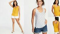 NWT Old Navy Polka Dots Relaxed Curved-Hem Scoop-Neck Tank Top NEW Women S M L