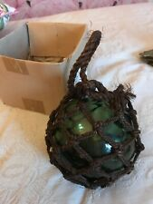 BOXED GREEN BLOWN GLASS FISHERMANS BALL/BUOY SEASIDE