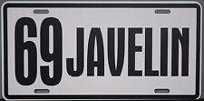 1969 69 JAVELIN METAL LICENSE PLATE AMERICAN MOTORS AMC AMX 390