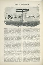 1925 Magazine Article Fighting Insects Crops Farming Boll Weevil Japanese Beetle