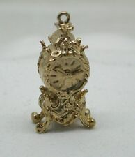 Heavy 9ct Gold Ornate Mantle Clock Charm