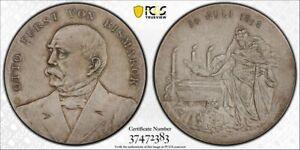 Germany silver medal 1898 Bismarck Bennert-228 Ag PCGS SP65 [m596]