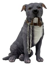 Blue Staffordshire Bull Terrier Dog Staffy Ornament Walkies Collectable Dogs