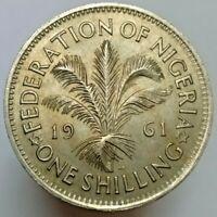 British East Africa one shilling 1959-1961 high grade Elizabeth II