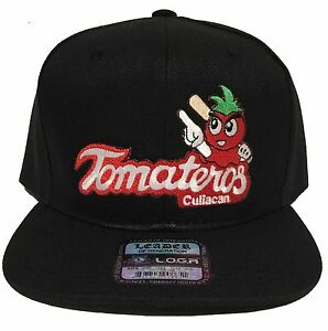 TOMATEROS DE CULIACAN MEXICO HAT 2 LOGOS BLACK  SNAP BACK FLAT BUILD NEW HAT