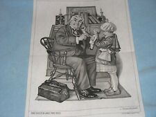 * Tri Chem 8351 Doctor And The Doll Norman Rockwell Girl Office Picture Trichem