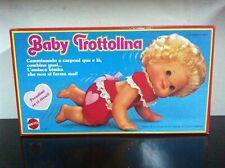 Mattel BABY TROTTOLINA Bambola Bebe Trotteur MIB, 1982
