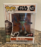 Funko POP! & T-Shirt The Mandalorian IG-11 With The Child #427 Exclusive Set New