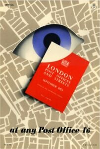 1950's GPO Public Information Poster P.R.D. 758 - London Post Offices & Streets