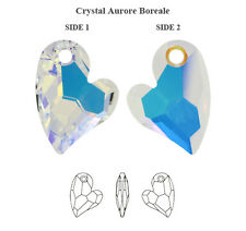 Genuine SWAROVSKI 6261 Devoted 2 U Heart Pendant Crystal AB 17mm