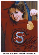 SARAH HUGHES Ice Skating Original SIGNED Autographed 8.5x11 Photo COA