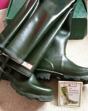 New Boxed Hunter Gates Coursefisher Rubber Waders UK 9 Made in Scotland