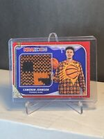 CAMERON JOHNSON RC 2019-20 NBA HOOPS WINTER HOLIDAY SWEATER PATCH RELIC RS-CJN