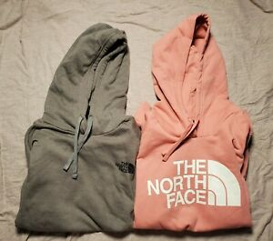 North Face Hoodie Lot of 2 XL Womens Grey Pink