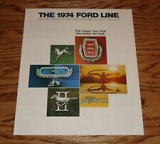 Original 1974 Ford Full Line Sales Brochure 74 Mustang II Thunderbird Torino