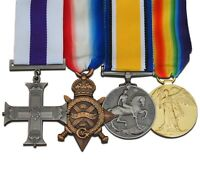 WW1 Military Cross 1914-15 Mons Star British War Medal Victory Medal Set New