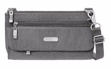Baggallini Plaza Mini Crossbody Bag in Pewter Cheetah w/Mimosa Lining (SALE!)