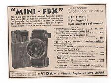 Pubblicità 1933 MINIFEX CAMERA FOTO PHOTO advertising werbung publicitè reklame