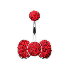 Classic Bow-Tie Multi-Sprinkle Dot Belly Button Ring Many Colors