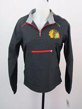 Reebok Uni Gear Chicago Black Hawks Black PullOver Hoodie Size M(10/12) E153