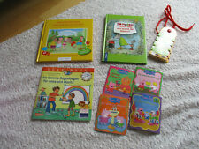 3 Kinderbücher,4 Peppa Pig,Mini Pandolino u.Gummi Bänder/Haare,ect.