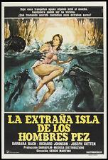 ISLAND OF THE FISHMEN Movie POSTER 27x40 Argentine Barbara Bach Claudio