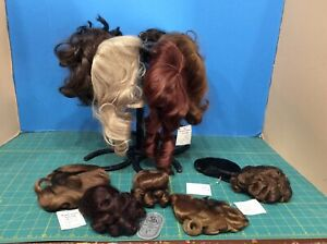 NWT Doll Wigs Vintage Lot of 13 Fiber / Synthetic Sizes from 10-12 Mostly IMSCO