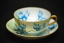 C.T. Tielsch Altwasser Tea Cup & Saucer Set Hand Painted Flower Design Germany