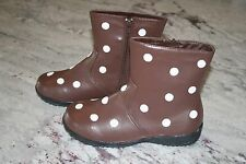 Kids Puddle Jumper Shoes Chocolate White Polka Dot Boots Sz 3 Euro 33 Boot Brown