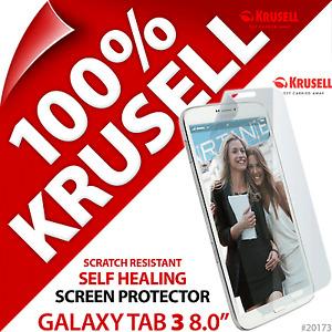 "New Krusell Self Healing Screen Protector Film For Samsung Galaxy Tab 3 8"""