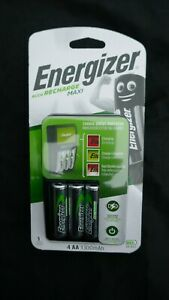 Energizer ACCU Recharge MAXI AAA / AA Charger With 4 x AA 1300mAh Batteries