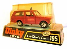 Vintage Dinky Range Rover Fire Chief's Car Model 195 - Virtually Mint/Good Pack.