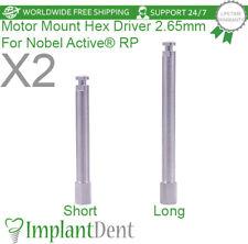 X2 Motor Mount Hex Drivers For Nobel Biocare Active Hex Rp Dental Implant