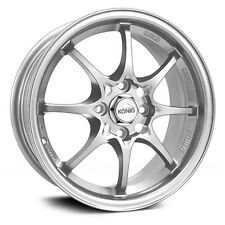 4-NEW Konig 72S Helium 15x6.5 4x100 +40mm Silver Wheels Rims