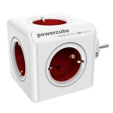 allocacoc PowerCube Original rot Type F für Extended Cube 5 zusätzl. Steckdosen